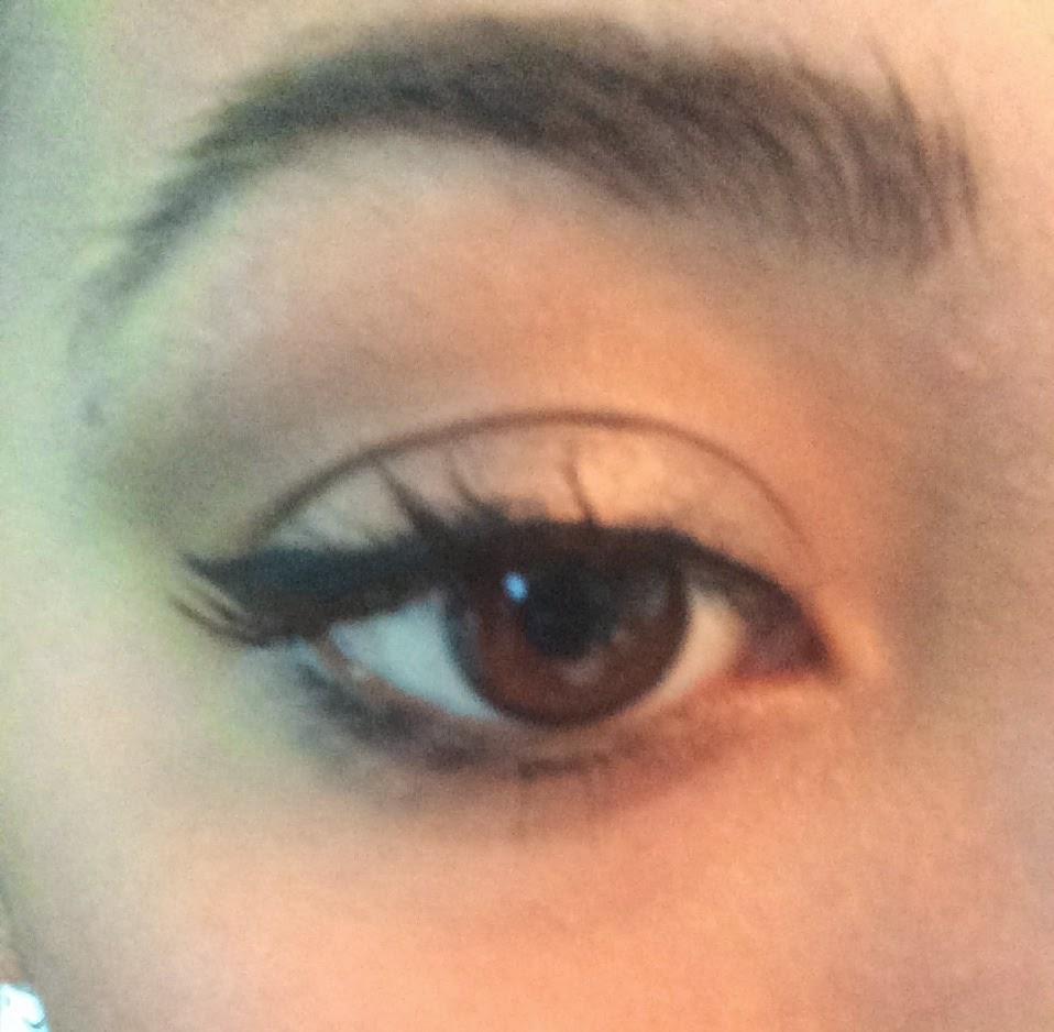 Freshlook colorblends brown on dark brown eyes