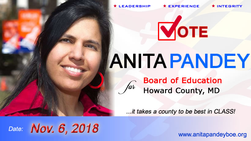 Anita Pandey for Howard County Board of Education