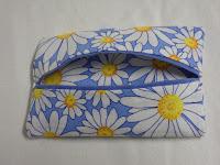 daisy, daisies, blue, tissue, holder