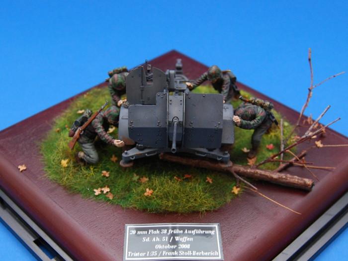 Flak 38 Sd.Ah. 51, Tristar 037, Besatzung, Diorama Bild 3