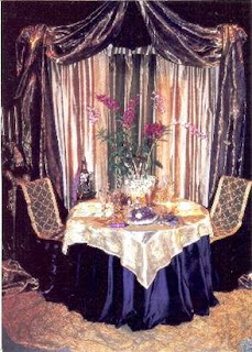 Wesco Fabrics vignette, metallic sheer, silk organza, orchids