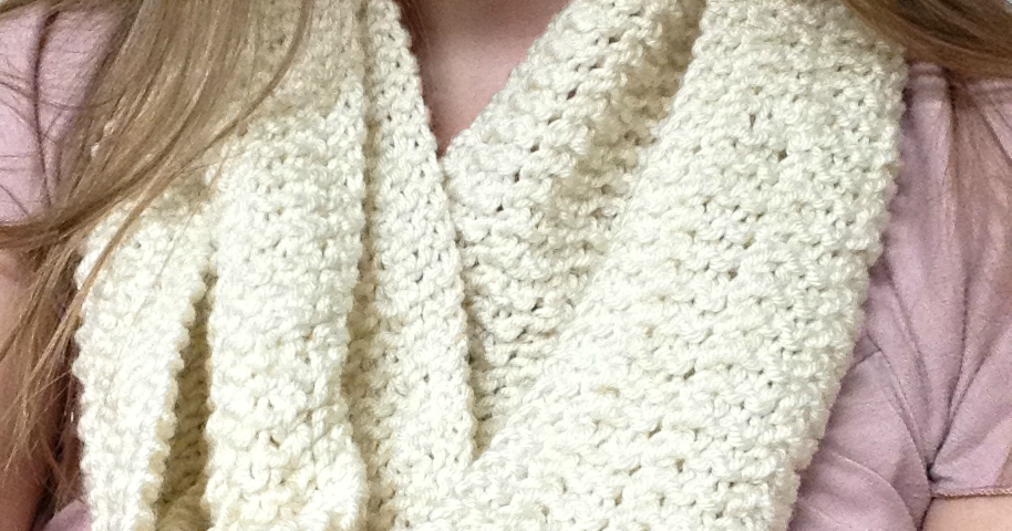 Little Miss Stitcher: The Michelle Infinity Scarf- A free and Easy ...
