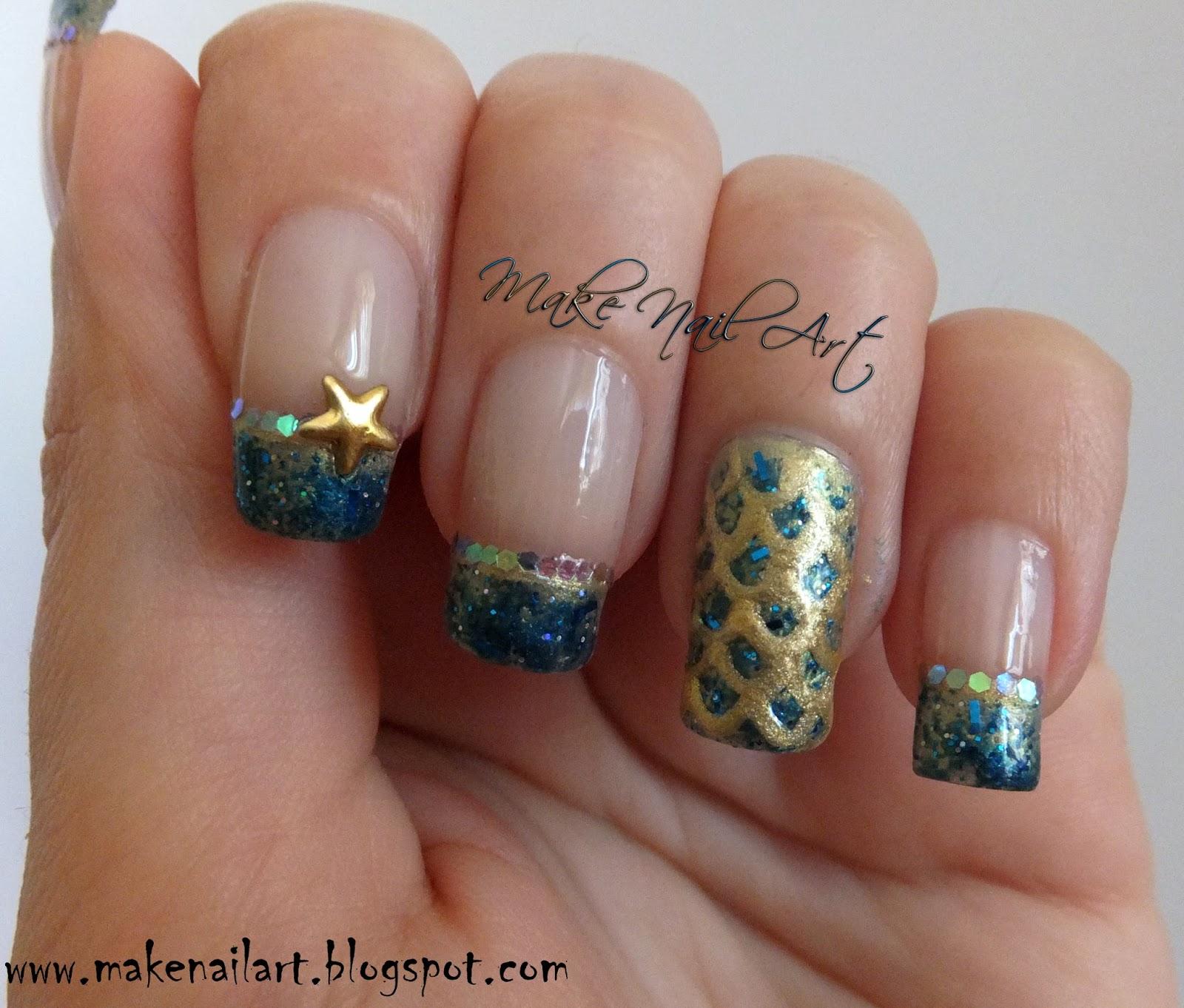 Make Nail Art: Mermaid Inspired Nail Art Tutorial