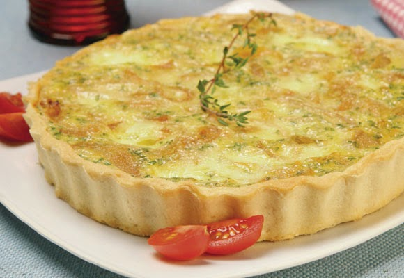 Quiche de cebola light