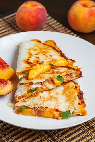 BBQ Chicken and Peach Quesadillas