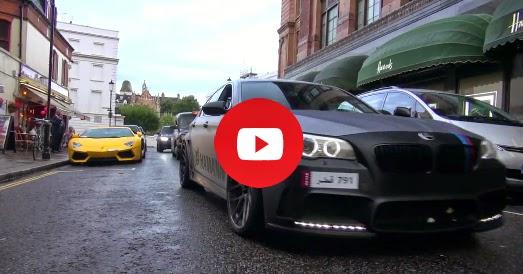 BMW M5 F10 Hamann Akrapovic échappement à Londres