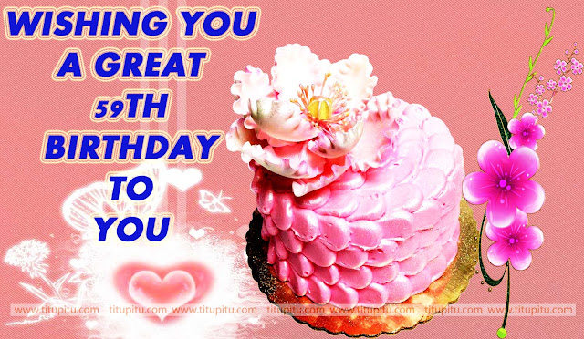 Nice-pink-cake-birthday-wishes-with-love-for-59th-birthday
