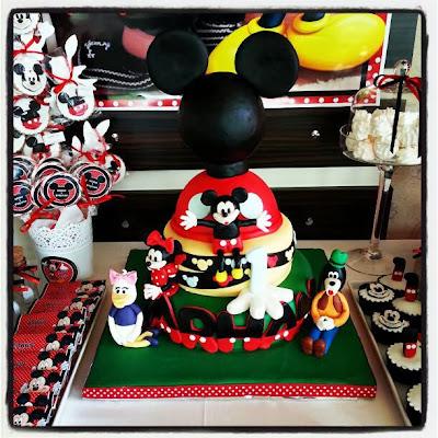 Mickey mouse temalı parti