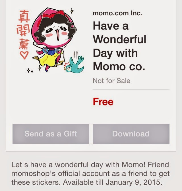 Have a Wonderful Day with Momo co sticker