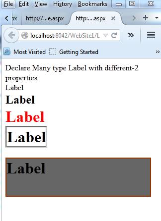 Asp.net label control