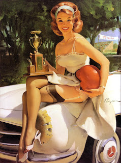Pinup beauty queen Elvgren art 1960s