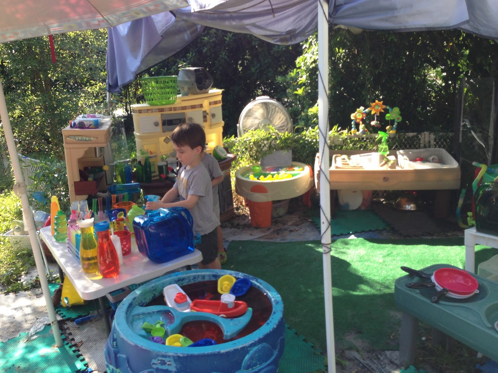 Rainbow snow slime & backyard play | Epic Childhood