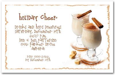 Click to shop Egg Nog Holiday Party Invitations