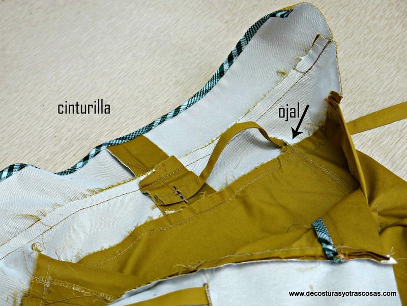 pantalón sport con cintura ancha bolsillos y cremalleras