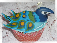 Peacock Cupcake