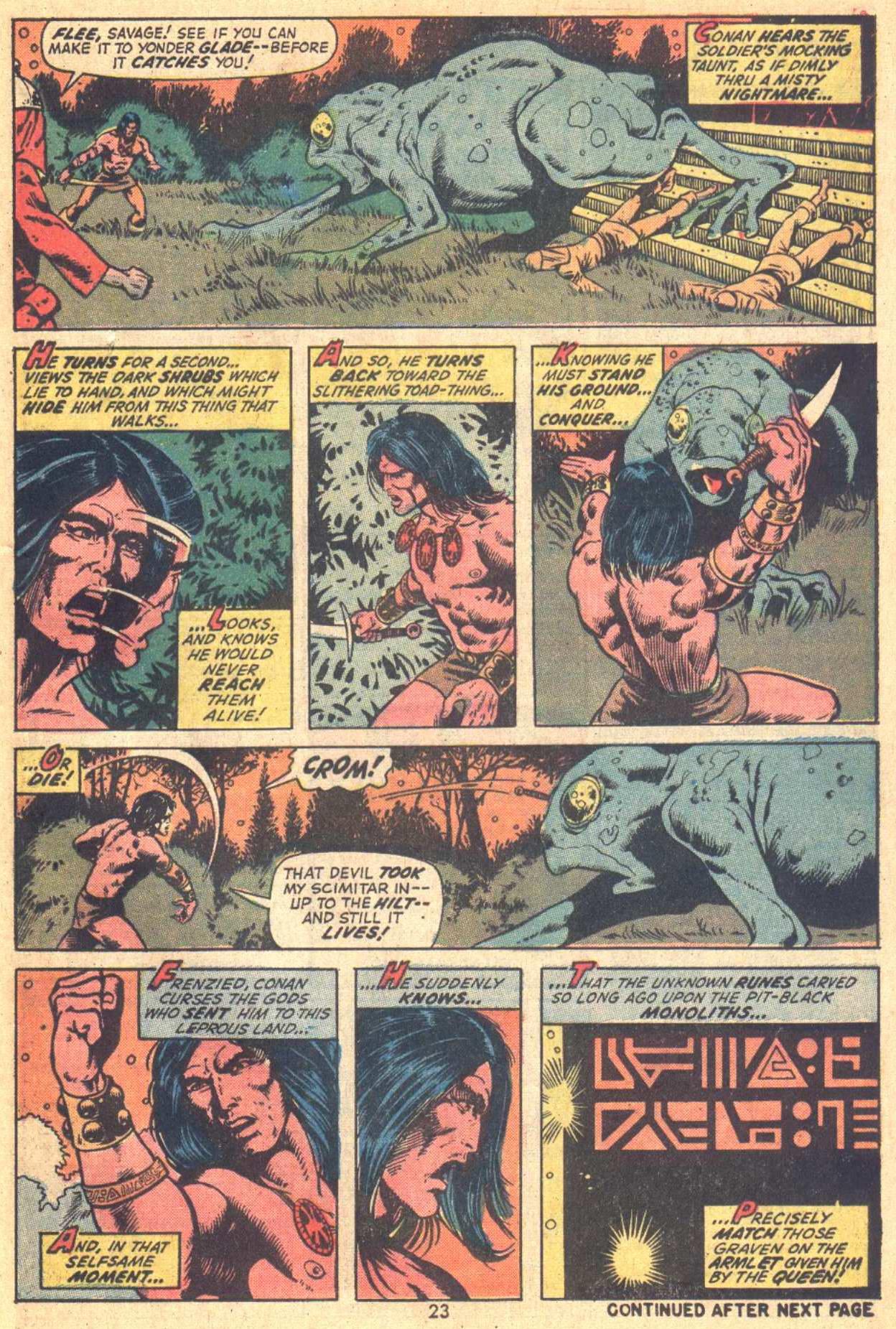 Conan the Barbarian (1970) Issue #21 #33 - English 18