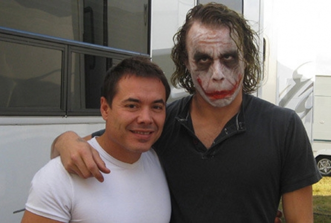 "15 Rare On-Set Photos of Heath Ledger in ""The Dark Knight"""