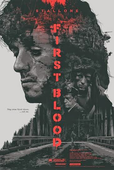 First Blood Variant Screen Print by Grzegorz Domaradzki