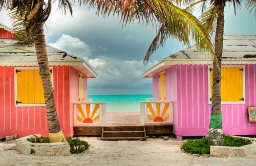 bold colors beach houses