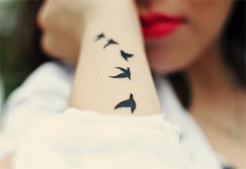 Tatuagem para menina pássaros braço Gnvision