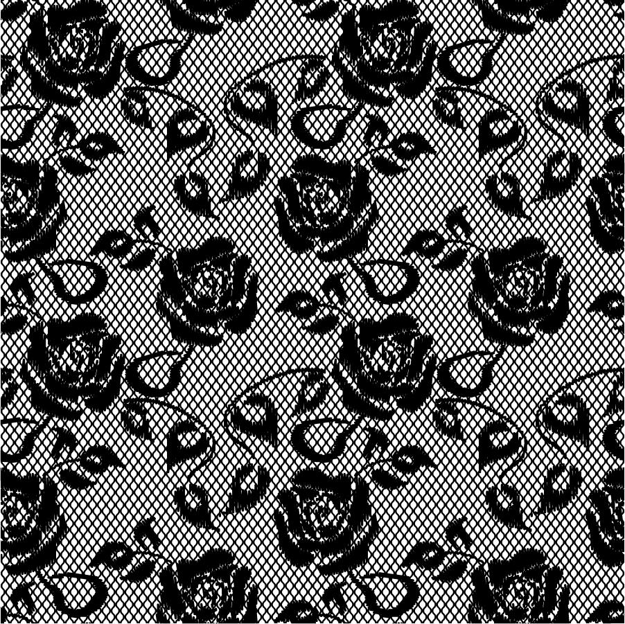 美しい花柄レース織りの背景 lace pattern background イラスト素材