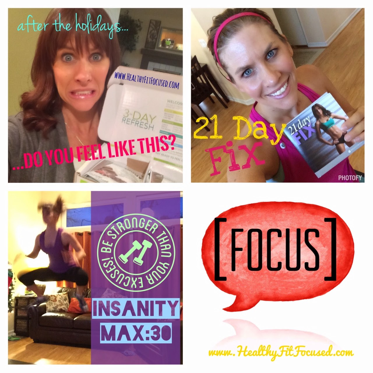 January Challenge Pack Promotions, Insanity Max:30, 3 Day Refresh, 21 Day Fix on sale!!
