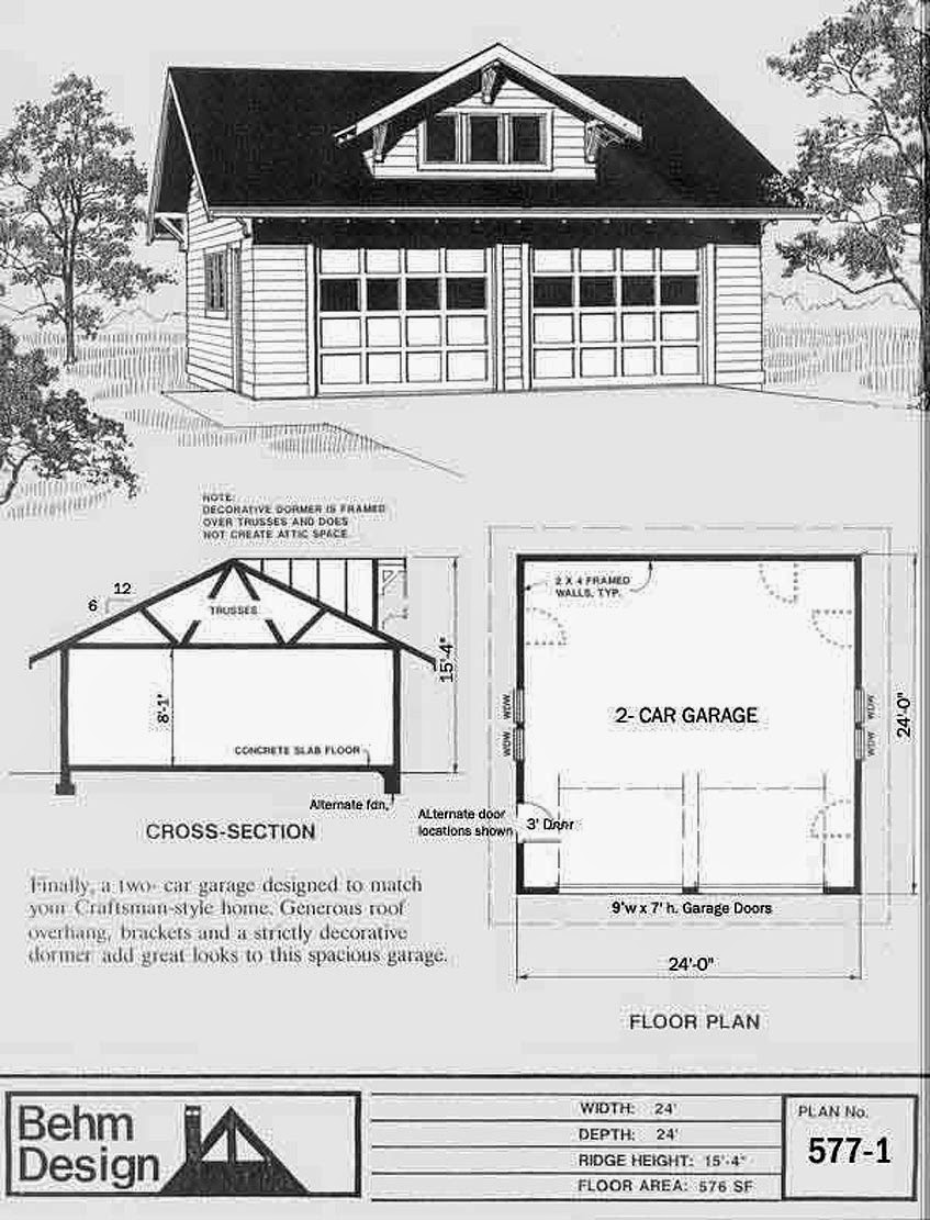 Garage plans blog behm design garage plan examples for 24x24 2 story house plan