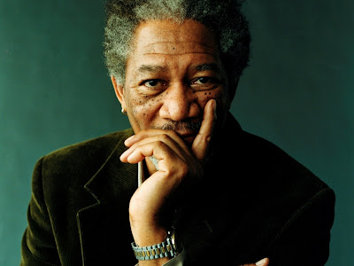 morgan freeman looks out to fall sleep throughout on air interview ...