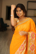 Midhuna New photo session in Saree-thumbnail-10