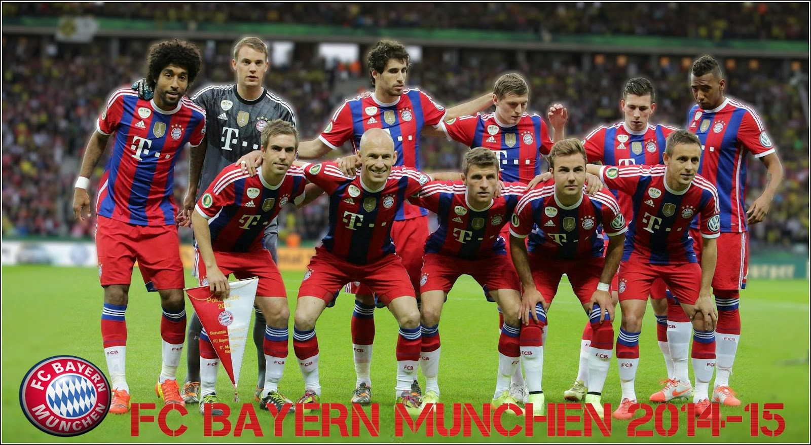 FC Bayern Munchen 2014-2015 Home Jersey Kit Wallpaper
