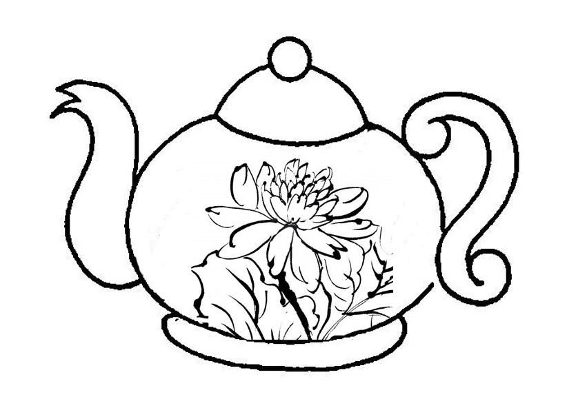 Dibujos de tazas y teteras para colorear - Imagui