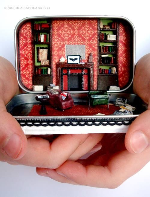 221B Baker Street Altered Altoid Tin - Nichola Battilana