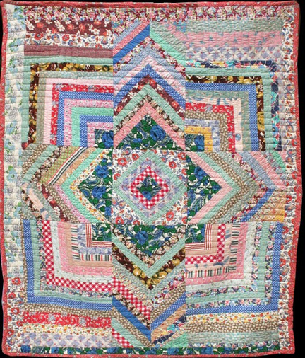 Barbara Brackman s MATERIAL CULTURE: Half a Log History and Free Pattern