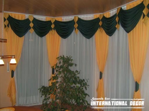curtain designs, unique curtains,orange curtains,window decorations