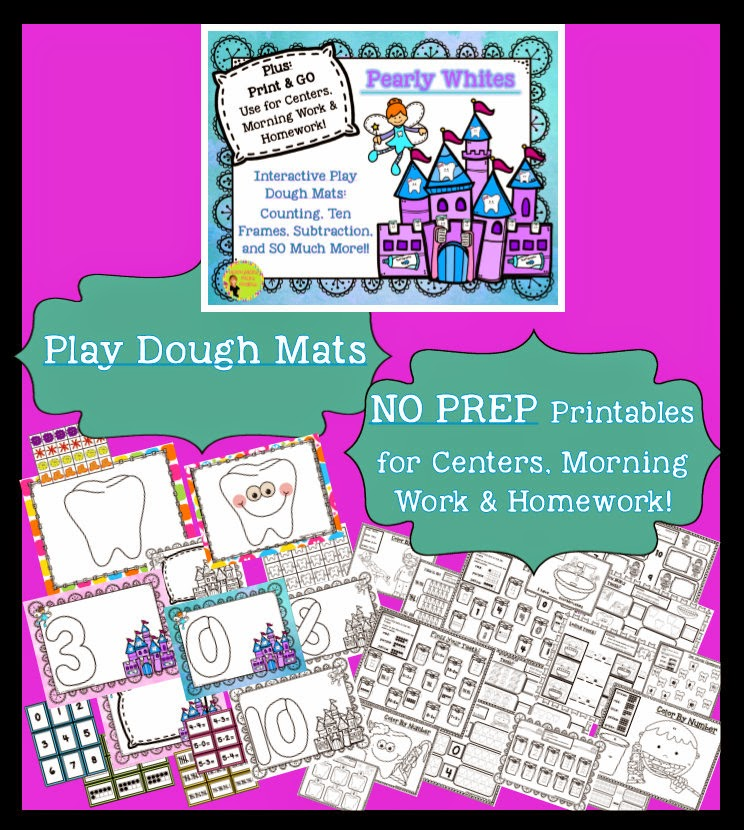 https://www.teacherspayteachers.com/Product/Teeth-Dental-Health-Interactive-Play-Dough-Mats-Math-Centers-Printables-1680279