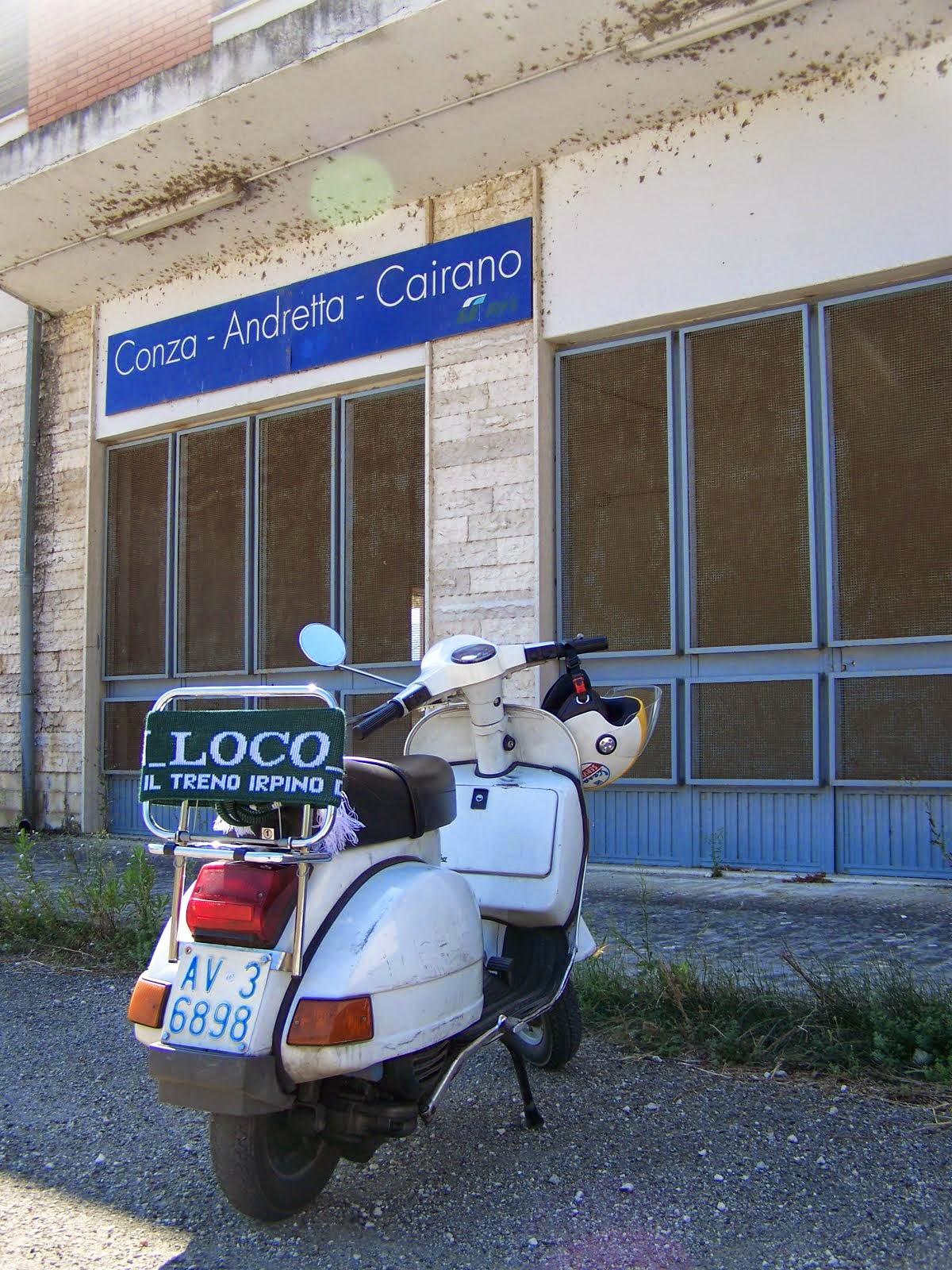 Alla stazione di Conza-Andretta-Cairano.