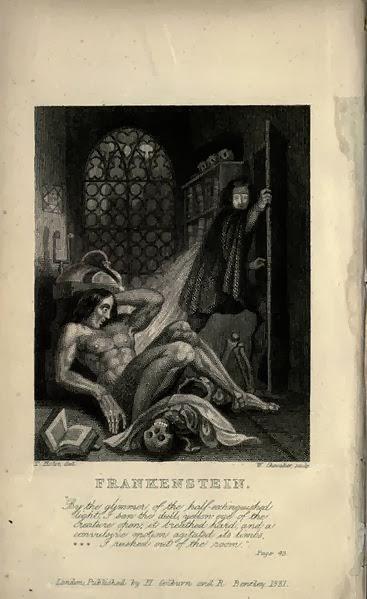 Portada de Frankenstein o el moderno Prometeo de Mary Shelley
