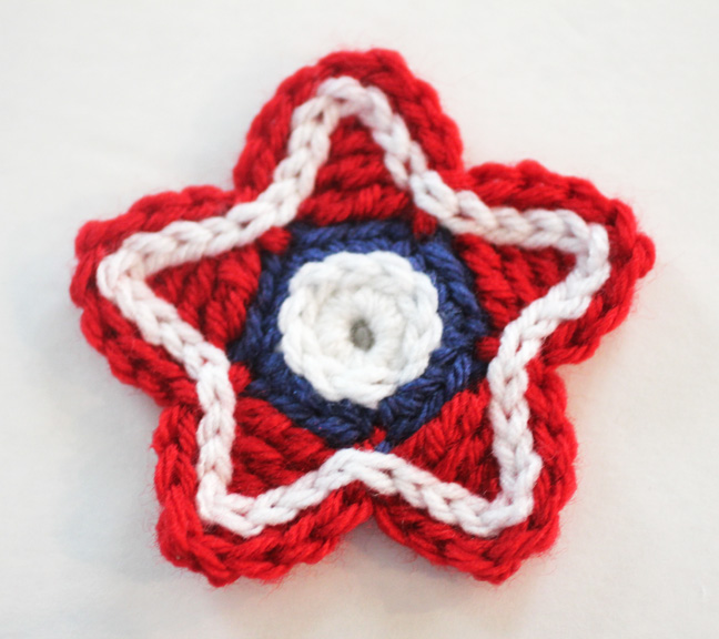 Patriotic Crocheted Stars Repeat Crafter Me