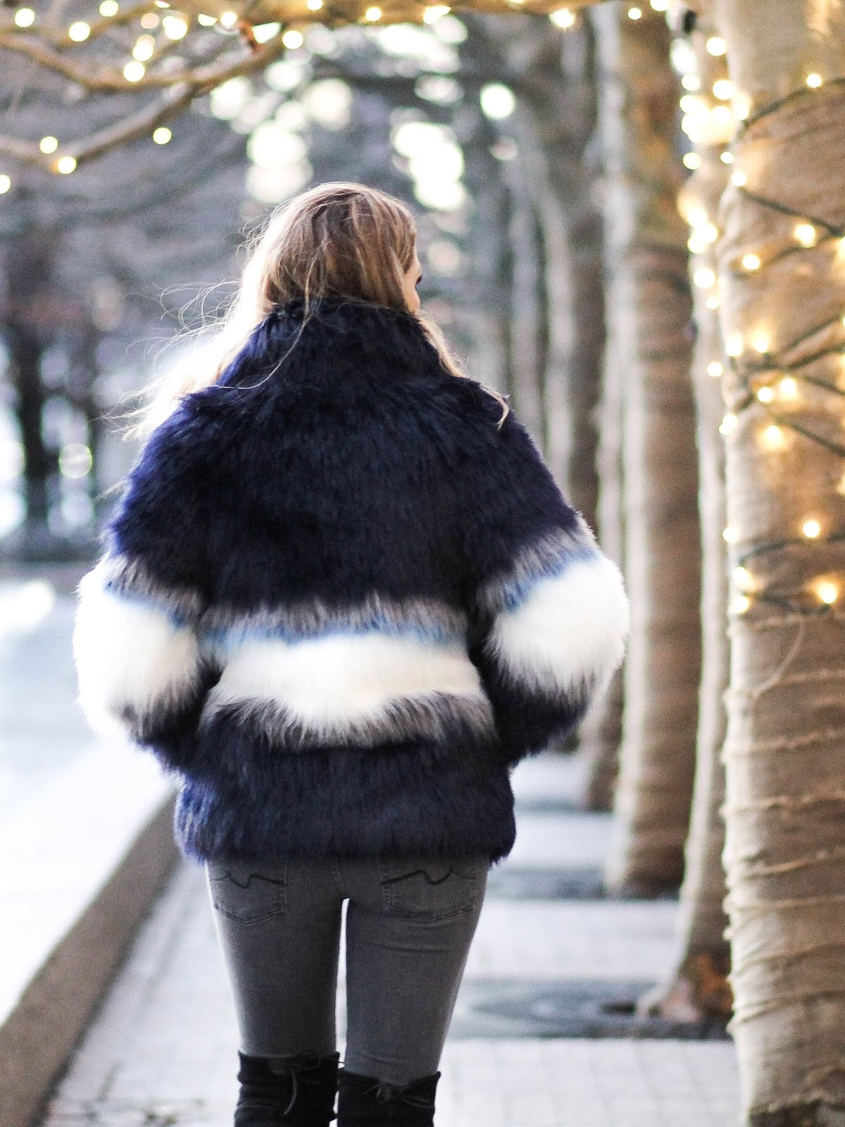 colored faux fur