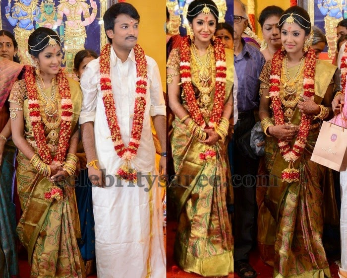 Raj TV MD Daughter Wedding Saree