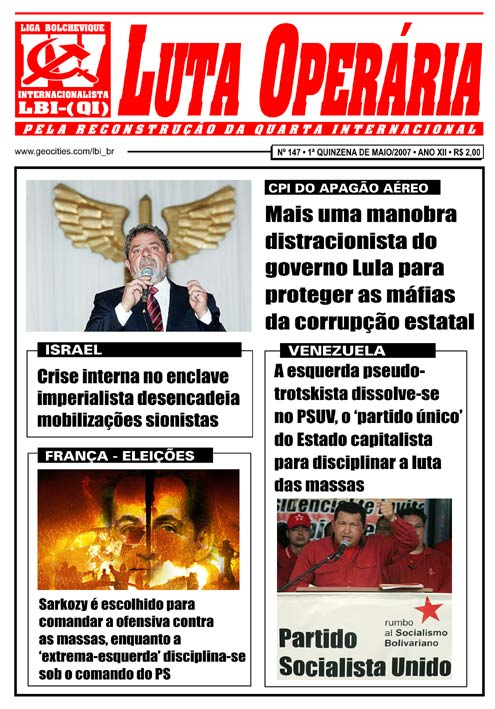 JORNAL LUTA OPERÁRIA Nº 147 - MAIO/2007