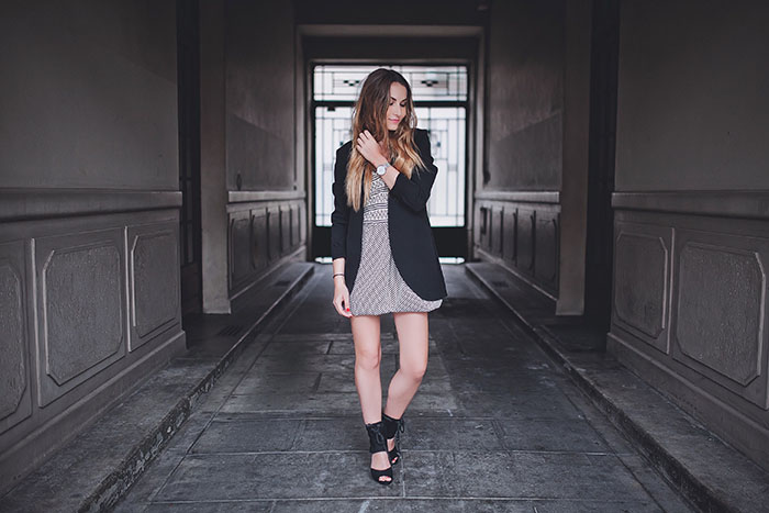 grey dress made in italy