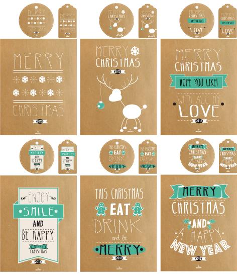 Printable kraft christmas designs