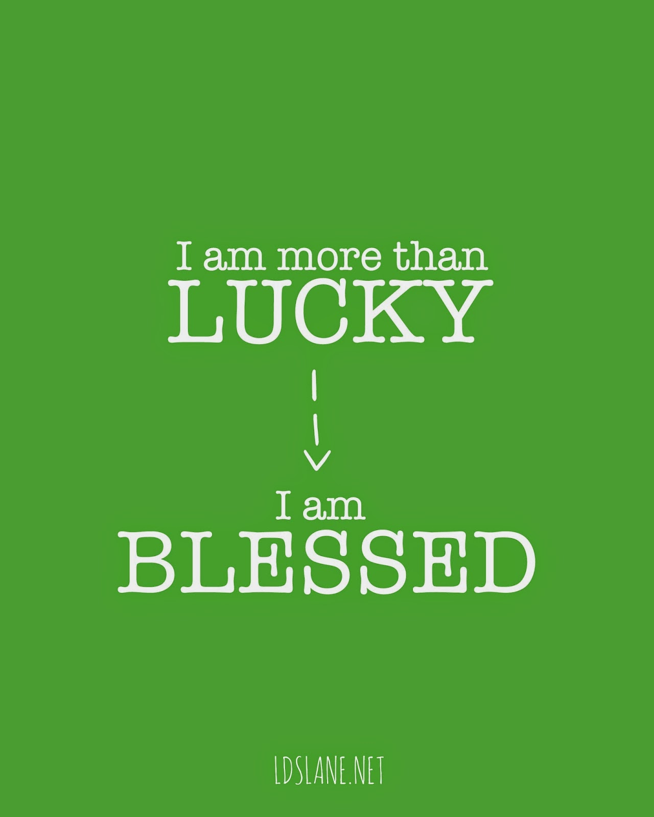 I am Blessed - free printable
