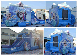 inflatable carriage bouncer combo