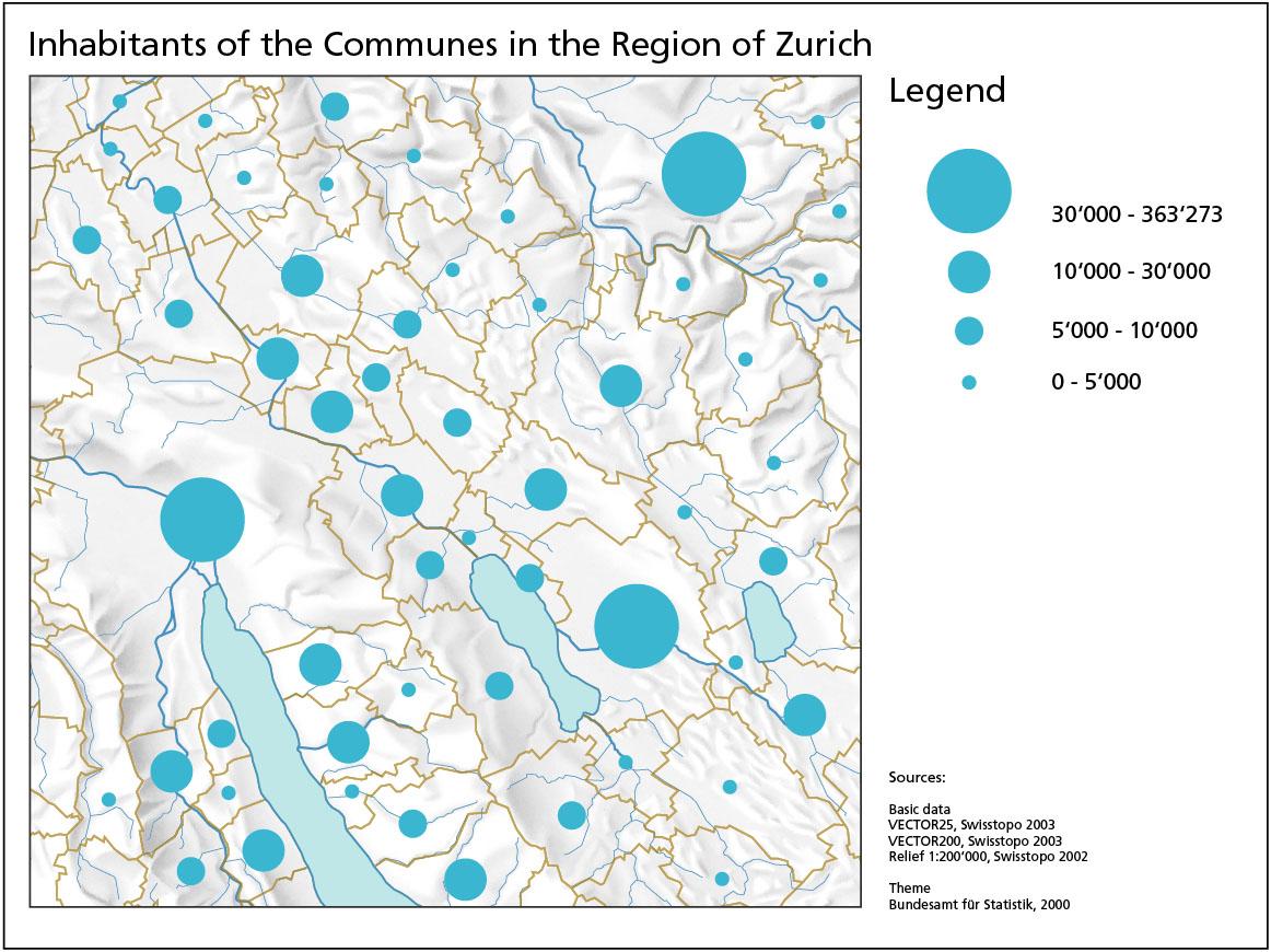 range graded proportional circle map