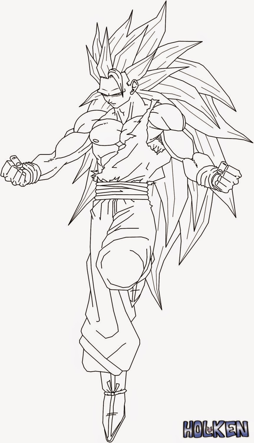 Goku sketch for colouring for Goku coloring pages