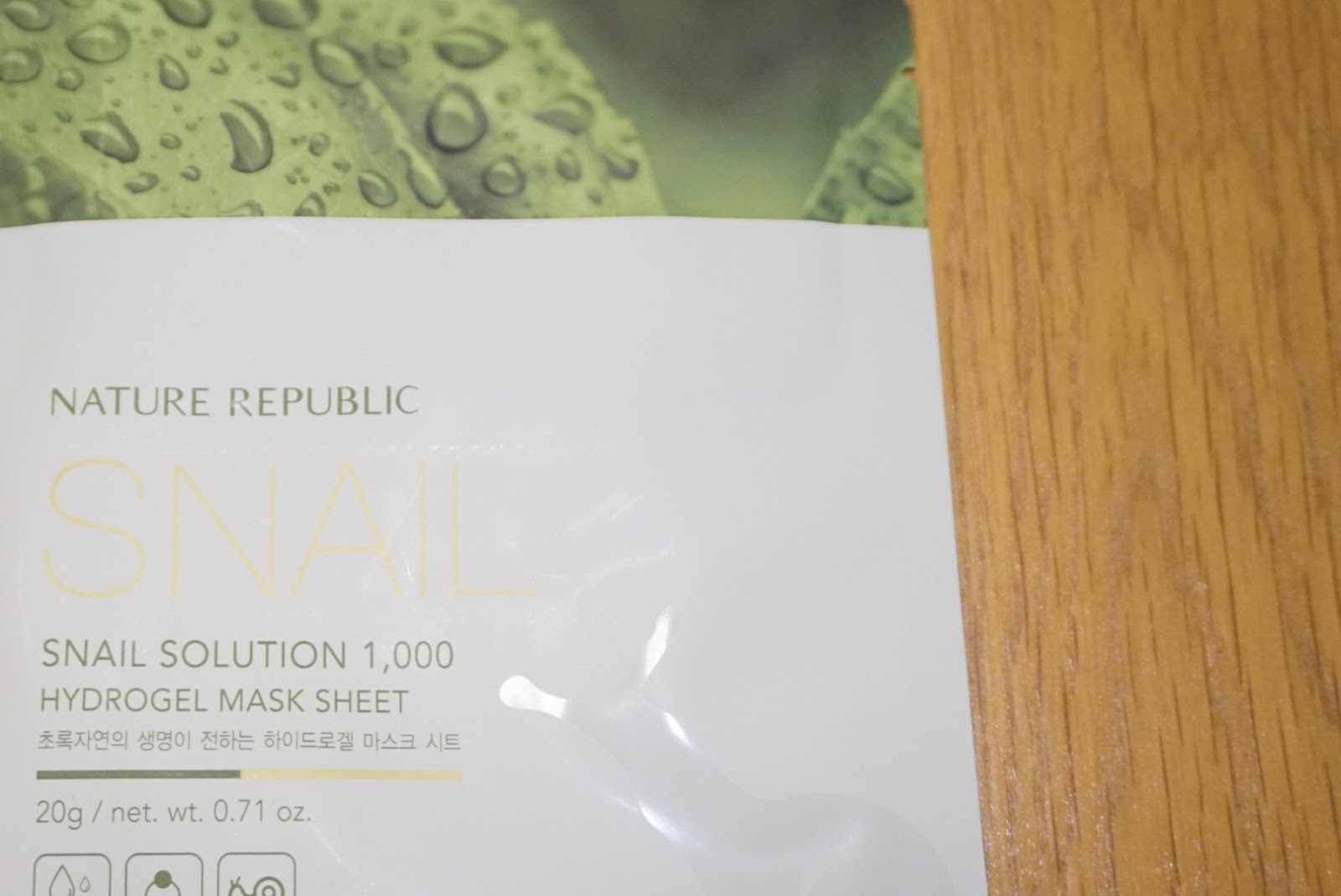 nature republic snail mucus solution mask hydrogel korean