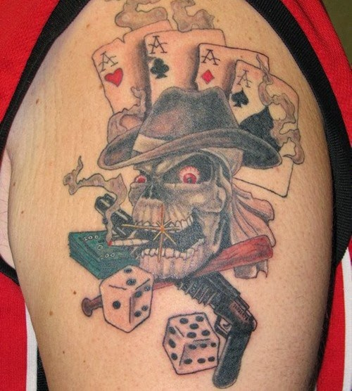 Of The Gambling Tattoo Design Why Tattoo Gambling Tattoos 500x556jpg