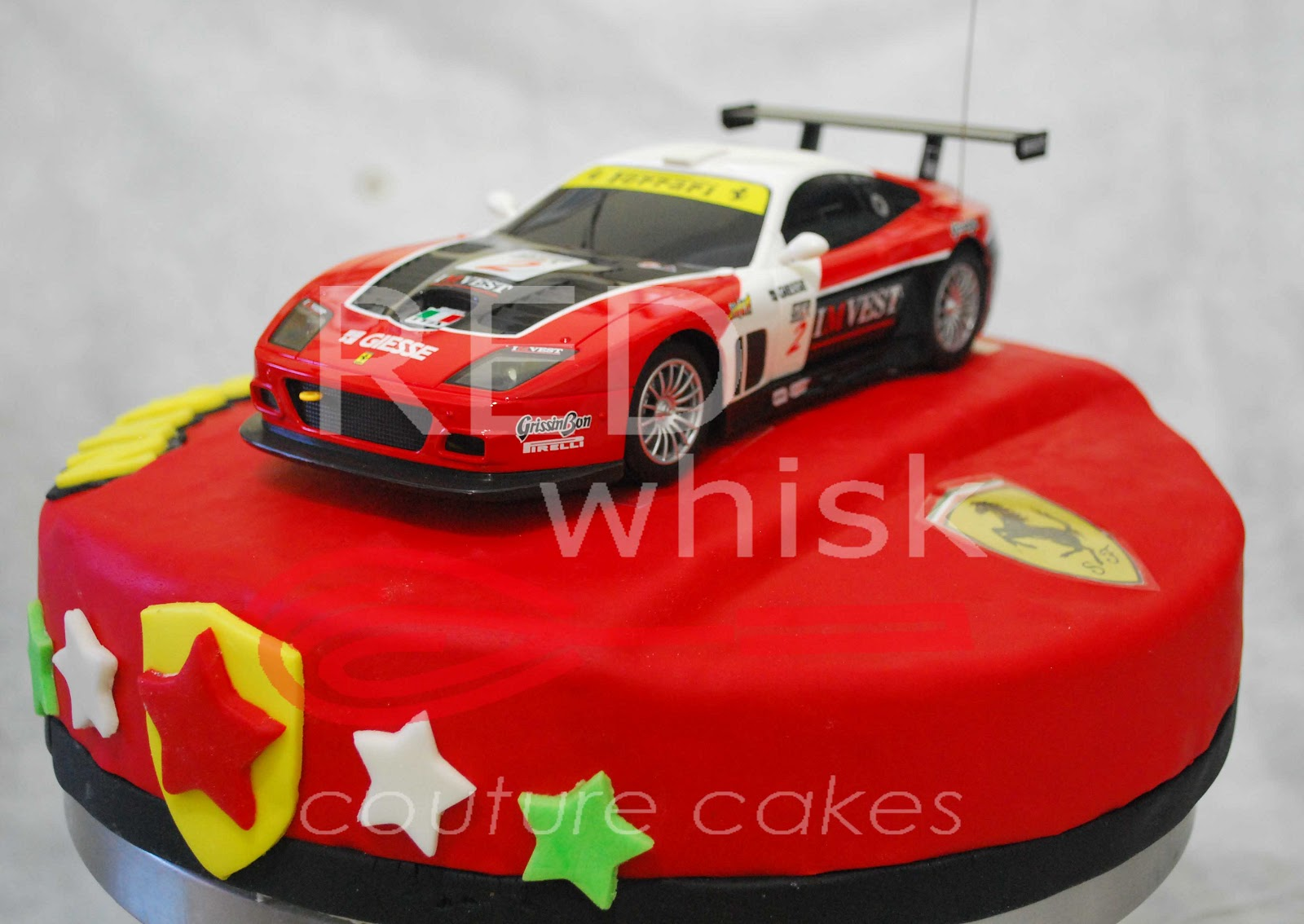 RED whisk Couture Cakes: Ferrari Cake